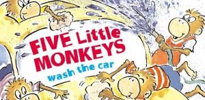 5 Monkeys Wash the Car