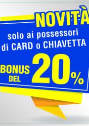 Novità Bonus 20%
